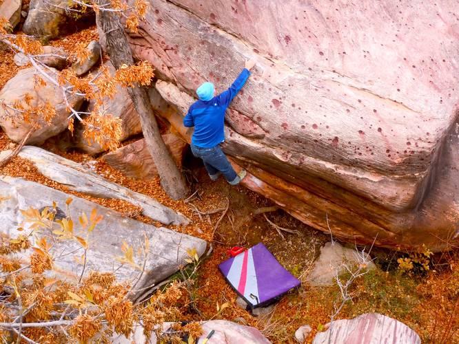 Urban Fervor low 7b+, Red Rocks
