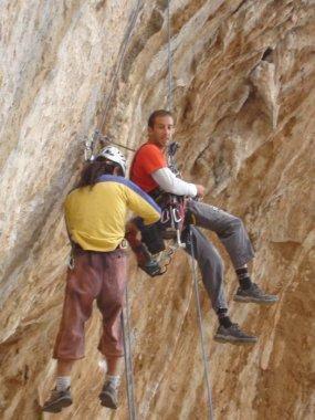 While bolting Gora Gouta Goutarrak, Kalymnos