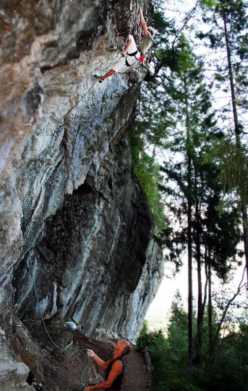 Kvisvik Blondino 7b, Hell, Norway, Climber Alexander Rydén