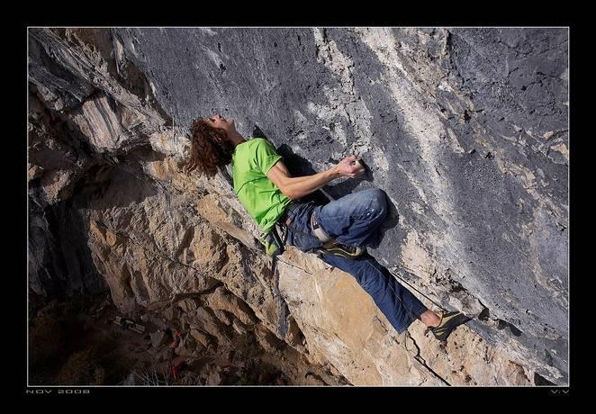 Open Air 9a+, Schleier Wasserfall