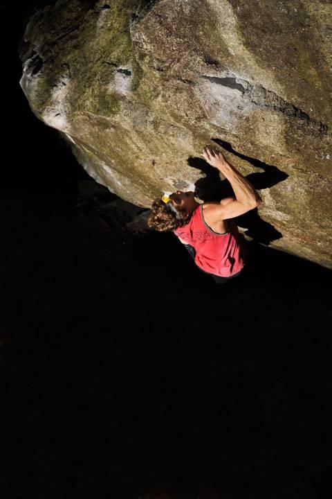 Night climbing in squamish