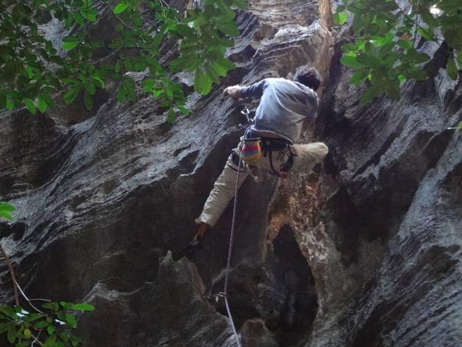 Cova dos Leões 6c+, Lapinha