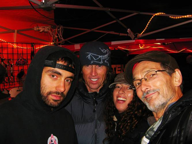 Dario, Charlie, me, and Rick at the Petzl booth during Rocktoberfest '09