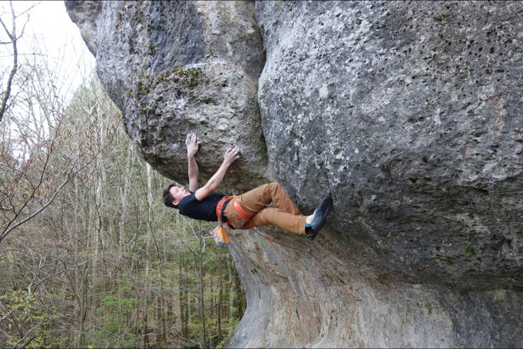Pain makes me stronger, every day! 8c+, Frankenjura