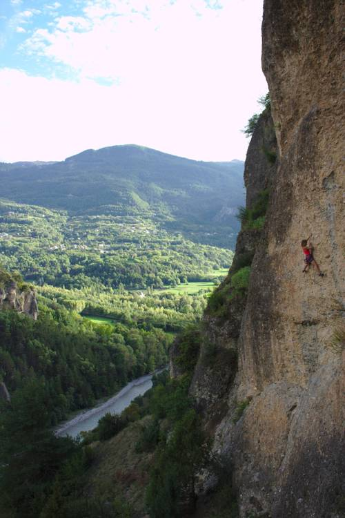 Liesbeth Moesen, Les yeux du sorcier 7b+, Mont Dauphin