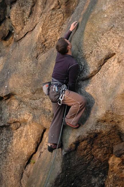 Kocie Ruchy VI.1+ (first ascent),  Sokoliki (PL)