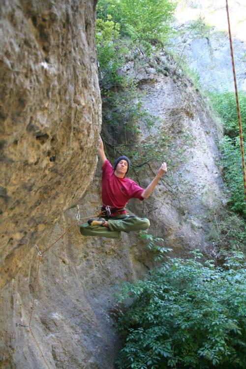 climbing is relaxing! - baerenschlucht wand, frankenjura