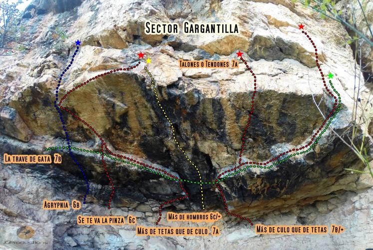 Croquis Sector Gargantilla (Carabaña)