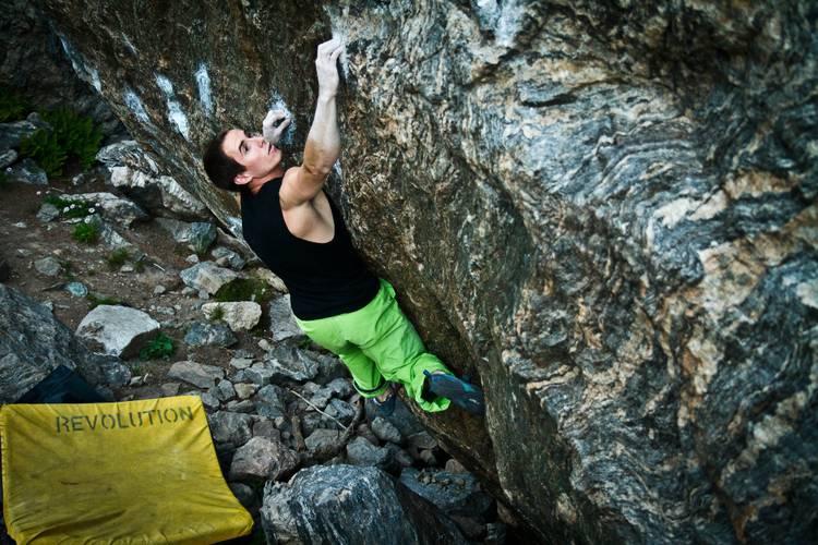 Carlo Traversi climbing Freaks Of The Industry 8b, RMNP