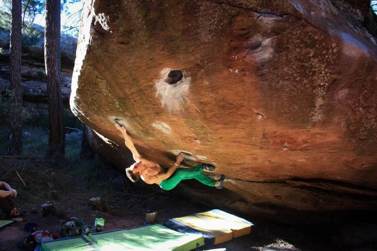 Cosmos, the super classic line in Albarracin Climbed the last day of the year