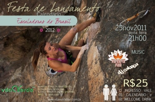 Lançamento do calendário Escaladoras do Brasil 2012