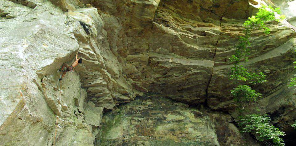 Narcissus, 7a+, Summersville Lake, New River Gorge,