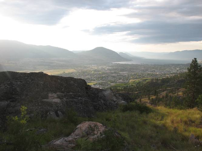 picture of Penticton BC, the town near Skaha