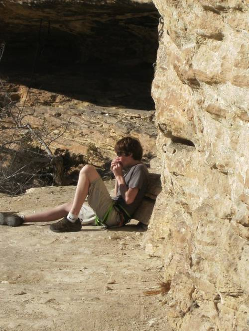 Playing harmonica in Buoux