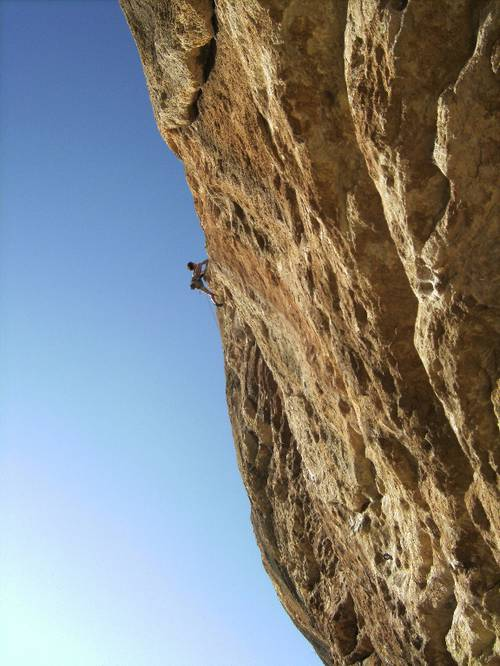 """Climbing in sector """"La Plage"""" in Buoux"""
