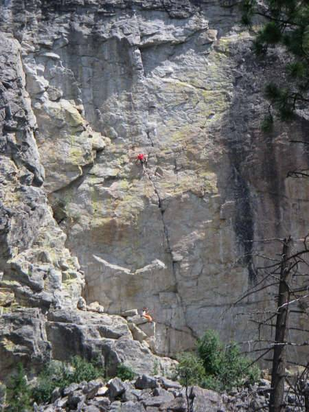 Wings of Desire 6c+, Skaha, Great White Wall (dogged the top)