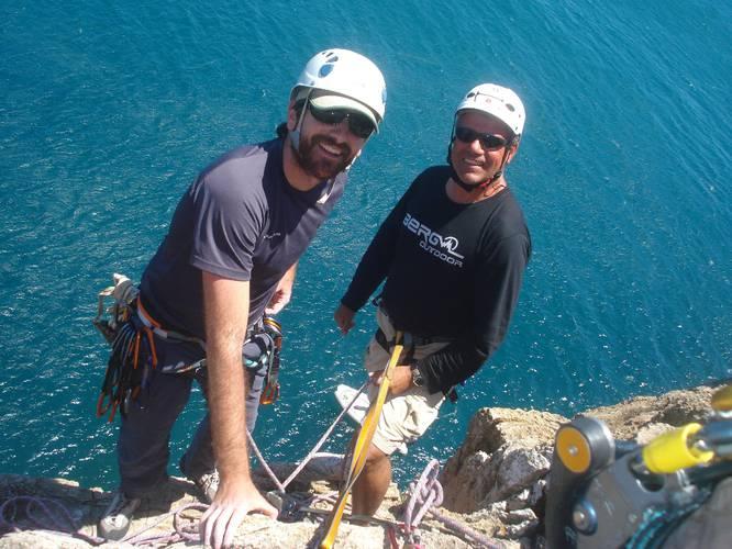 Luís Nadkarni and Nuno. Workshop Climbing Sagres 10-11 Juin 2009