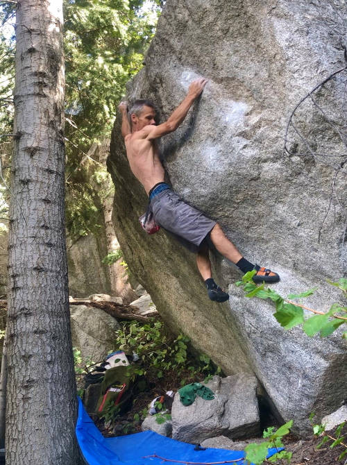 The super fun and classic problem Blueberry 6c+, located at the Red Letter Day area in LCC. Well worth a look....  : )