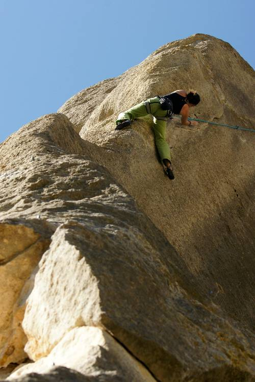 courage fuyons 7a+, Buoux