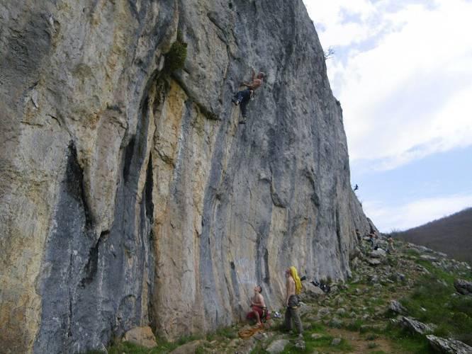 Egocentrismo en el alpinismo 7c, Valdehuesa
