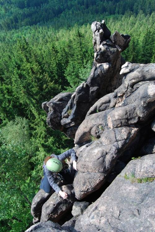 Zubr III+, Sokoliki; wspina siê Martyna (kurs)