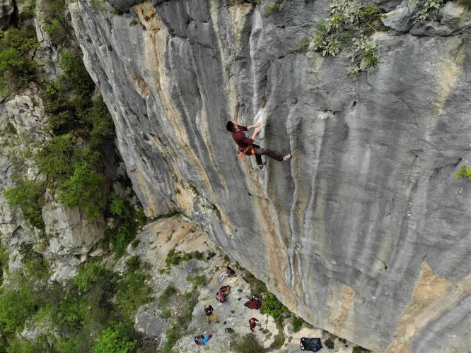 Best tufa climbing in Dalmatia