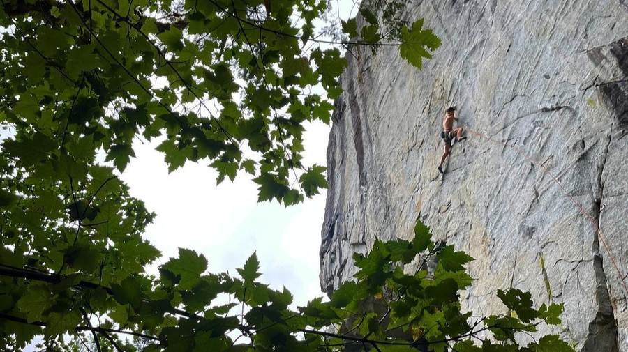 Mike Foley does the FA of Spirit Quest 9a, Ben Harnden repeats