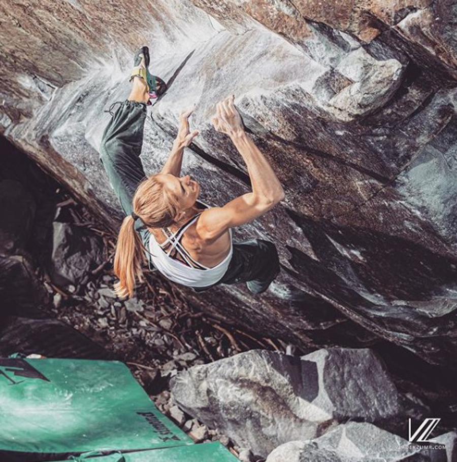Seven 8A's and harder by Charlotte Andre in Magic Wood